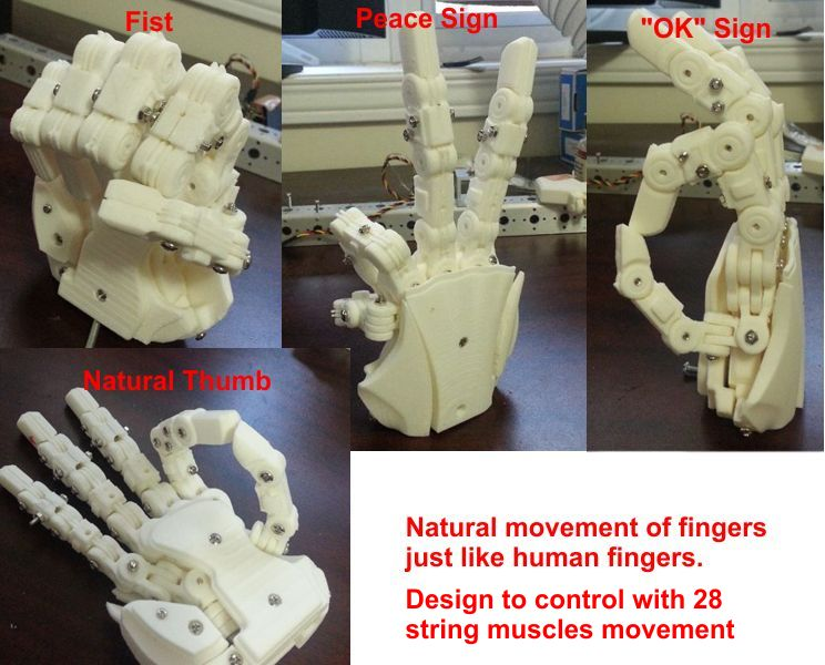 Aiko New Hand V2 from 3d printer HandFinal02