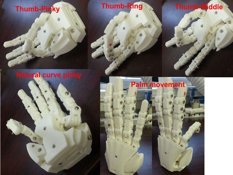 Aiko New Hand V2 from 3d printer HandFinal03