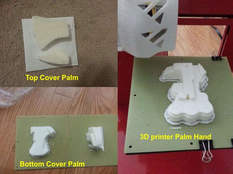 Aiko New Hand V2 from 3d printer PalmFinal